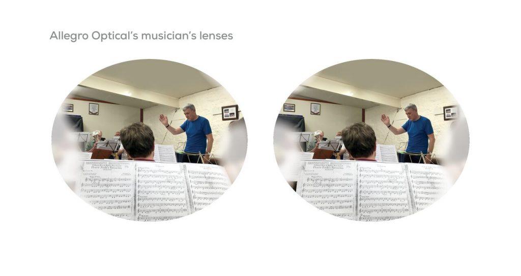 The rehearsal room as seen through Allegro Optical Musicians Lenses