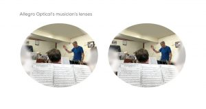 The rehearsal room as seen through Allegro Optical Musicians Lenses