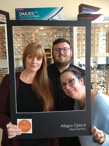 Allegro Optical Greenfield Claire James and Sheryl