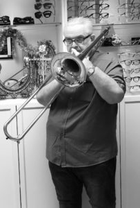 Stephen Tighe - Trombonist and Conductor - The Musicians Optician Allegro Optical Specialist music glasses