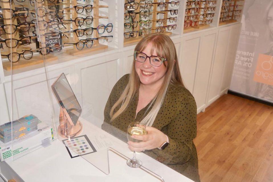 Kayleigh wearing CCS frames - eyewear styling by Allegro Optical